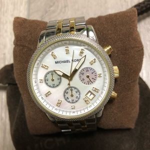 Michael Kors Two Toned Mother of Pearl Face Watch